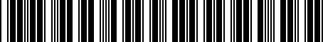 Barcode for PT39808150