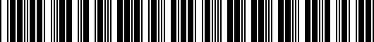Barcode for PT90848G0002
