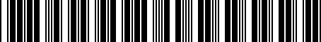 Barcode for 3819360040