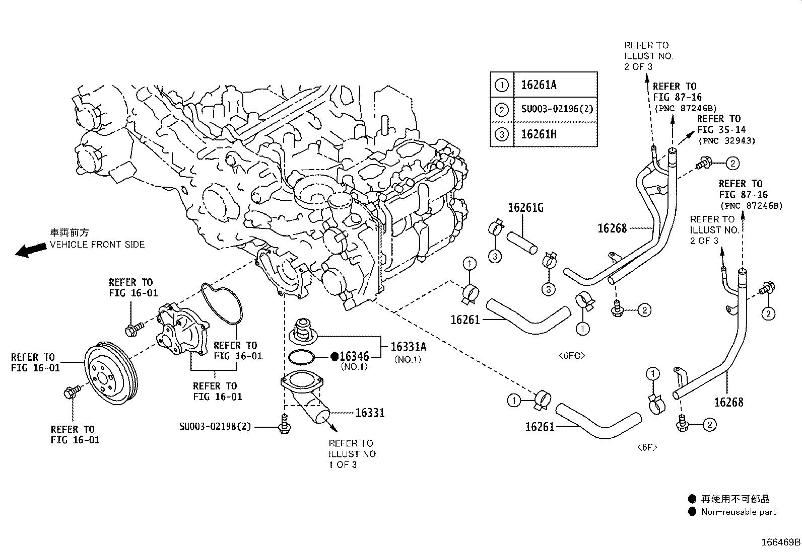 Toyota 86 Engine Coolant Crossover Pipe
