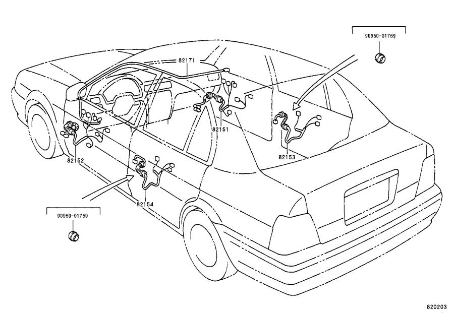 Toyota Tercel Connector  Wiring Harness  Wire  Engine