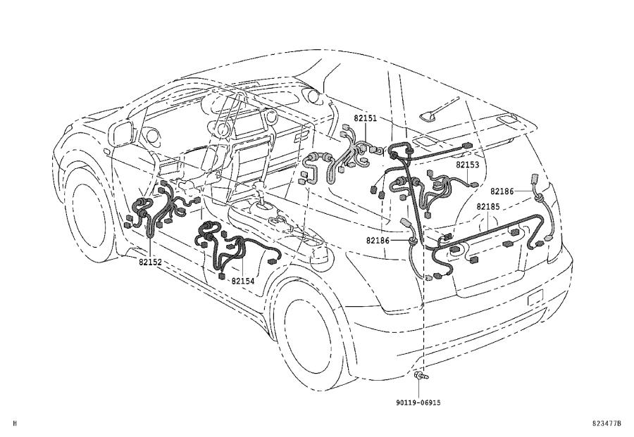 Scion Xa Wire  Instrument Panel  Engine  Electrical